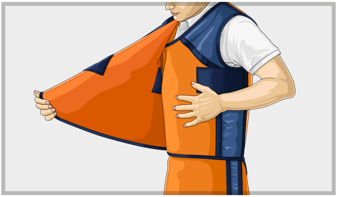Overlapping Area X-Ray Aprons